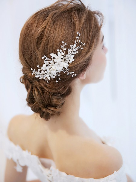 Bright Czech Imitation Pearl Bridal Headpieces