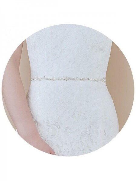 Women's Lovely Satin Sashes With Imitation Pearls